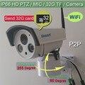 1280*960P PTZ Wireless IP webcam Outdoor Weatherproof Network wifi Internal mic camera HD 1.3MP IR led cctv Probe Send 32G RAM