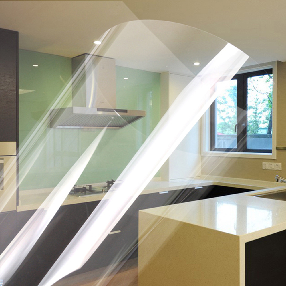 Yazi Clear Vinyl Self Adhesive Counter Top Cover Sticker Kitchen Tiles Wallpaper Refurbished Sticker Shelf Liner 60x250cm
