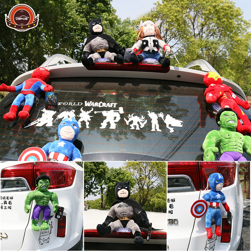Creative car sticker roof decoration doll The Avengers fashion car stickers size 30 cm Do not hurt paint Strong suction freeship