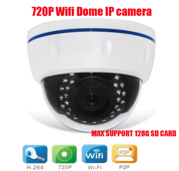 ФОТО 720P HD megapixel IP camera ir dome supports Wifi phone view network camera support card recording dvr card camera security