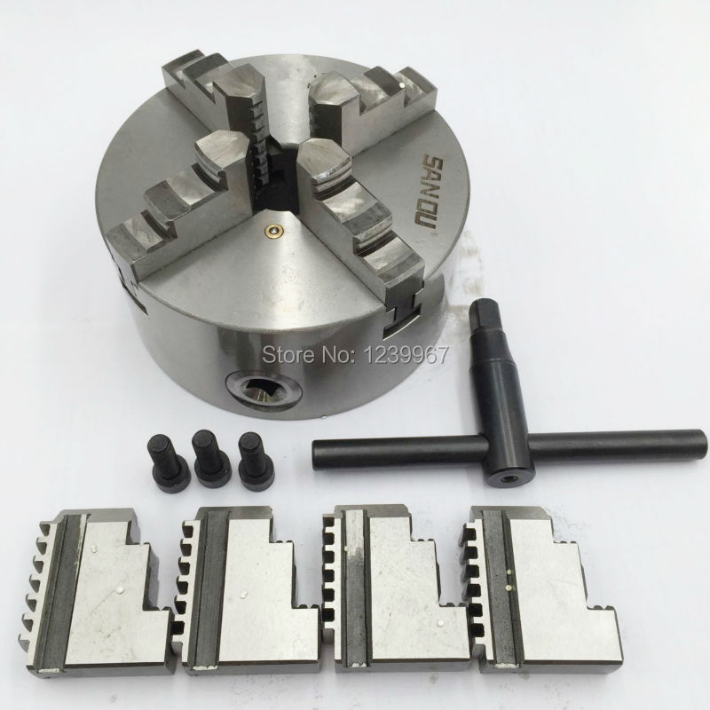 8'' 4 Jaw Chuck Self-centering Hardened Steel Scroll Lathe Chuck 200mm for Wood Metalworking Lathe CNC Router 96pcs 130mm scroll saw blade 12 lots jig cutting wood metal spiral teeth 1 8 12pcs lots 8 96pcs