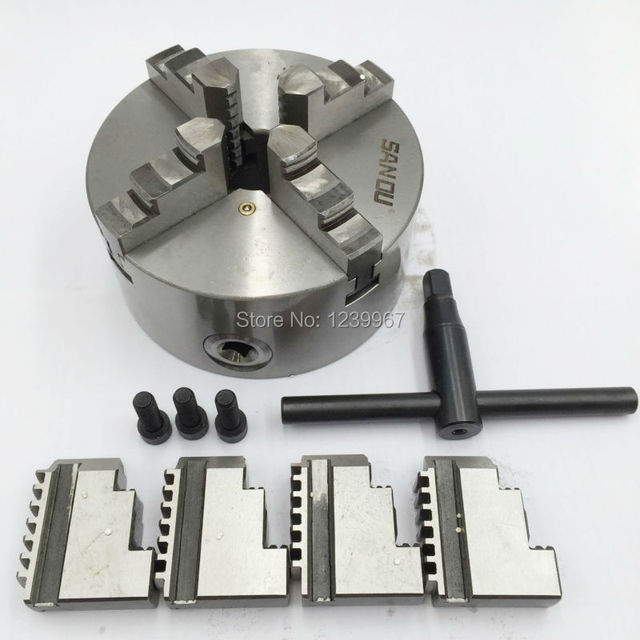 8 4 Jaw Chuck Self Centering Hardened Steel Scroll Lathe Chuck 200mm For Wood Metalworking Lathe Cnc Router