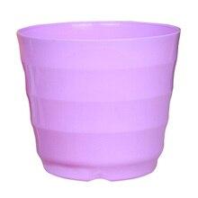 Пластиковая Круглая Цветочный Цветочный Горшок Плантатор, Владелец С Лоток Для Дома и Офиса Декор Сада Фиолетовый