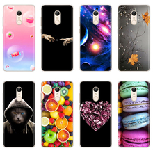 Soft Silicone Case For Xiaomi Redmi 5 Case Cute Cartoon Printing Phone Cover on For Redmi 5 Plus Redmi5 Coque Soft TPU Funda