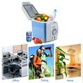 2016 Portable 12V 7.5L Auto Car Mini Fridge Travel Refrigerator Quality ABS Multi-Function Home Cooler Freezer Warmer