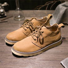 Winter Real cowhide men's flats plush genuine leather male business casual shoes thermal cotton-padded Flat shoes plus size