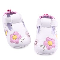 Fashional Floral Design Leather Baby Leisure Walking Shoes For Girls 0-15 Months