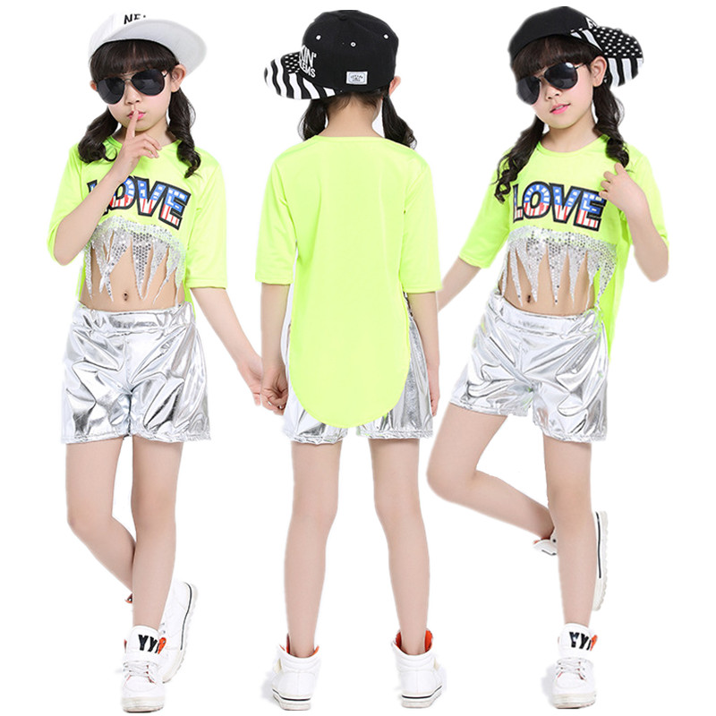 20pcs/lot Free Shipping 2017 Oriental Dance Costumes for Children Girls Stage Show Competition Kids Hip Hop Jazz Hiphop Clothes