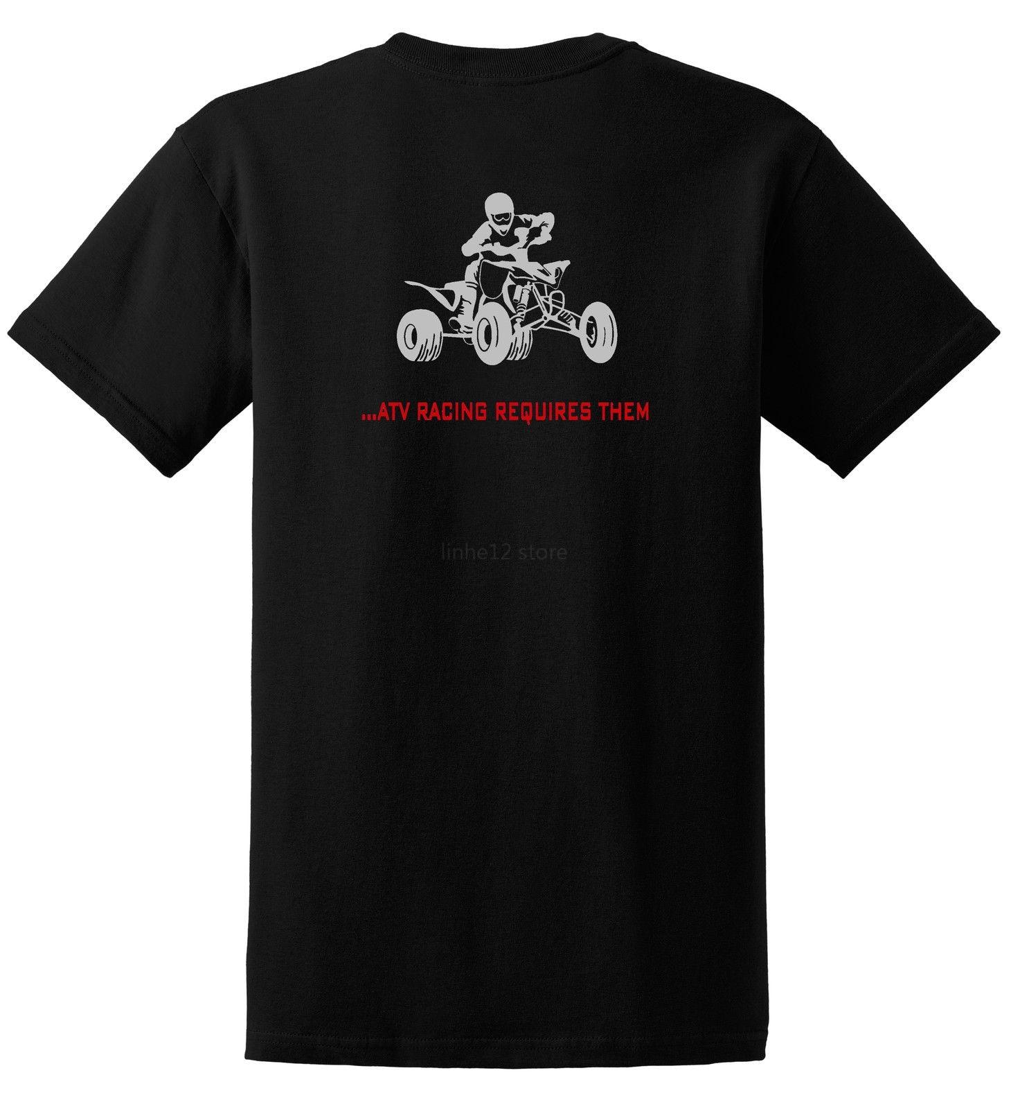 2019 Nuevo Verano Fresco Tee Camisa Atv Carreras Requiere Bolas Sólo Montar T Camisa Quad Yfz 450 Fourtrax 4 Wheeler Camiseta De Algodón Meticulosos Procesos De TeñIdo