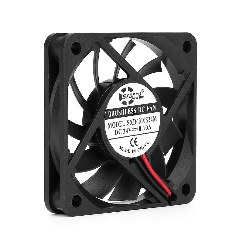 Brand new SXDOOL SXD6010S24M 60mm 60*60*10mm slim DC 24V 0.10A axial case servier inverter cooling fan 4000RPM 18.1CFM цена