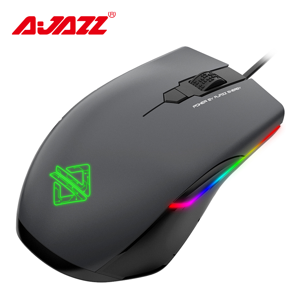Ajazz AJ903 Gaming Mouse USB Wired Mouse 16000 DPI RGB Lighting Mice 32bit 50G Acceleration Customized