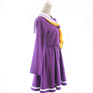 Image 2 - Anime Game No game no life cosplay Shiro costume Halloween women clothes carival dress wigs sailor suit Japanese school Uniform