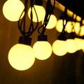 Открытый Водонепроницаемый Большой Размер 4 см Мяч Свет Шнура Сид 220 В 5 М 20 светодиодов Фея Украшение света Для Праздника Свадьбы Сада использовать
