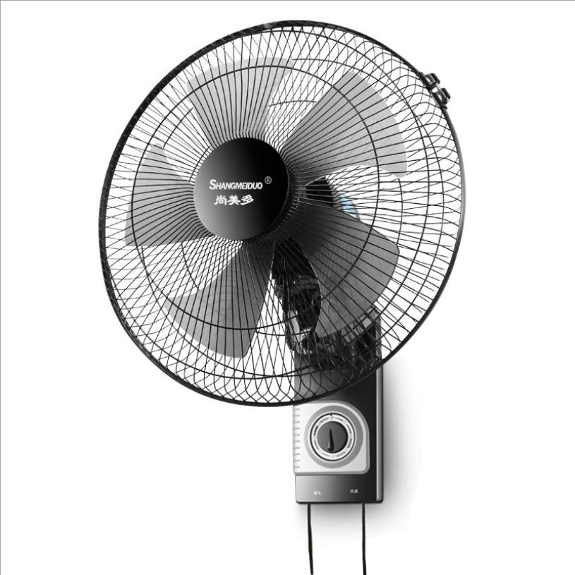 Low Noise 17inch Wall Fan Wall-mounted Electric Fan Home Restaurant Shaking Head Mute Air Cooler Fan Industrial Wall-mounted Fan