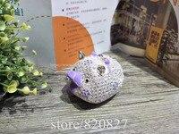 Pig Jewelry Trinket Box Bejeweled Figurine Funny Piggy Piglet Metal Trinket Box 10 7 8 5
