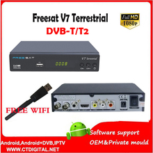 FREESAT V7 Terrestrial full hd dvb-t2  H.264 HD TV Digital Terrestrial Receiver DVB T2 Set top Box freesat v7 t2