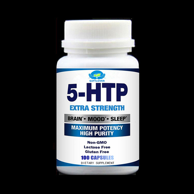 5-HTP Supplement 100 Capsules/Bottle