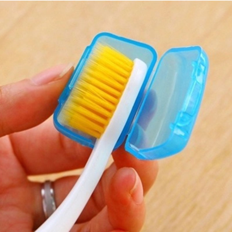 Toothbrush Headgear Hiking Camping Travel Supplies Tooth Brush Head protective Cover Case Toothbrush Sets Outdoor Tools