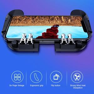 Image 4 - H9 נייד טלפון Gamepad עבור Pubg ג ויסטיק יד גריפ משלוח אש כפתור עבור Pubg בקר L1R1 הדק עבור Pubg משחק אבזרים
