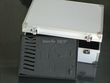 Professional Silver high quality Aluminum Tattoo Kit  case & Tattoo box Tattoo kit box wholesale