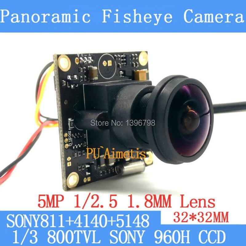"Fish Eye 360 Degree 1//3/"" Enchanced SONY EFFIO 700TVL Security Cctv Camera BNC"