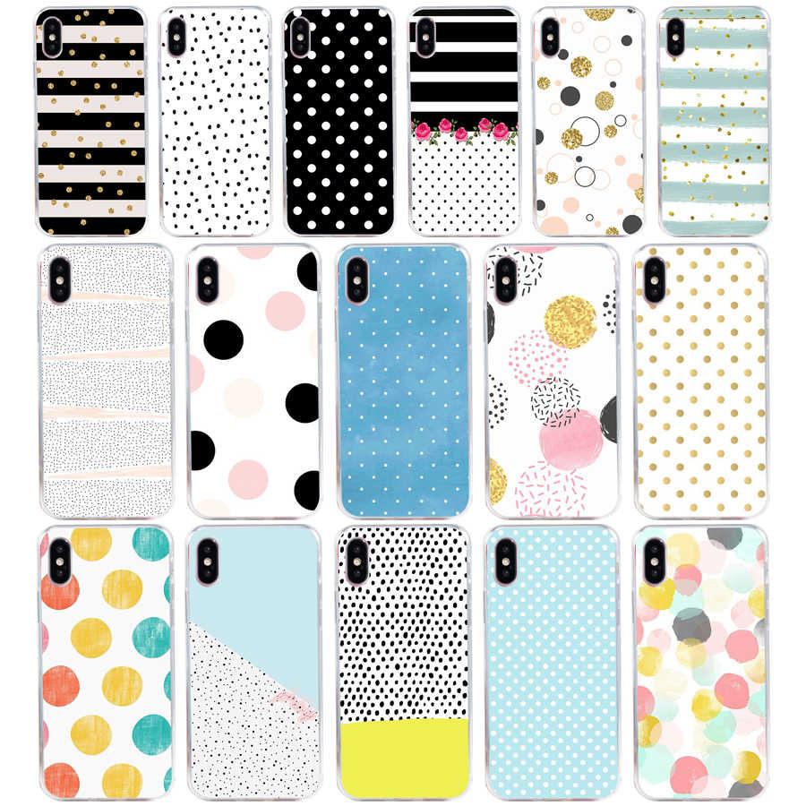 140 ZX デザインポルカ電話ケースカバー iphone × xr xs 最大 Coque Fundas