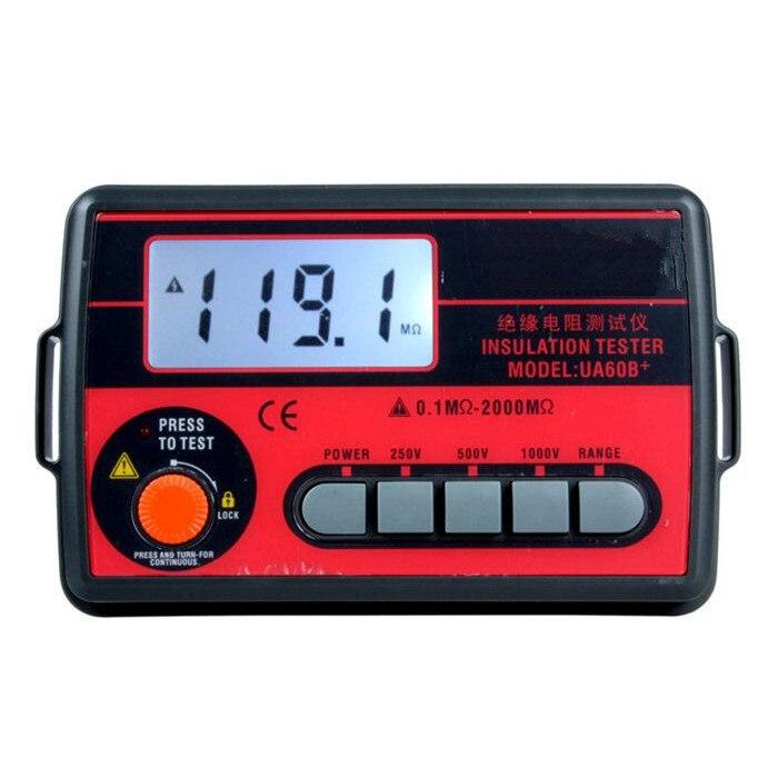 High Precision Original Insulation Resistance Meter Digital Megger 250V/500V/1000V Insulation Ohmmeter Shake Table Testing Meter