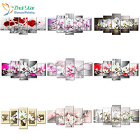 Zhui Star 5d Diy Diamond Embroidery Flower Diamond Painting Cross Stitch Full Square Drill Rhinestone Mosaic