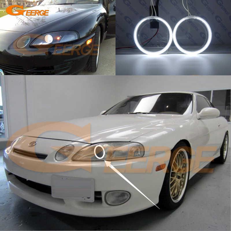 For Lexus SC300 SC400 1991-2000 Excellent angel eyes Ultra bright headlight  illumination CCFL Angel Eyes kit Halo Ring