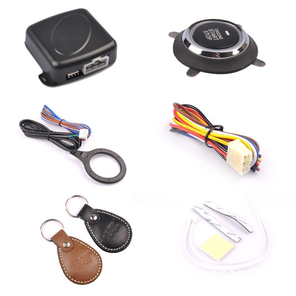 Auto alarma de arranque del motor pulsador Start Stop RFID interruptor de encendido sistema de entrada sin llave inicio antirrobo CY932-CN