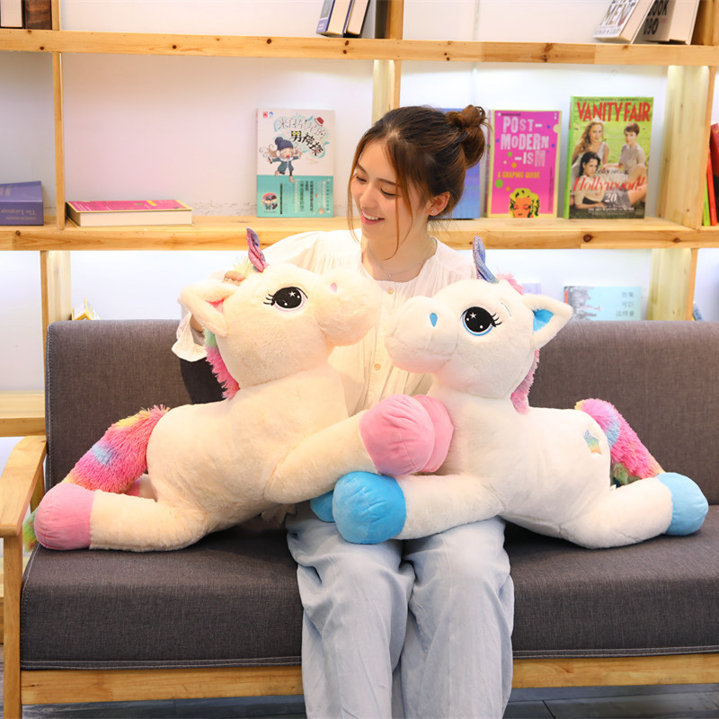 Babiqu Huge Size Unicorn Plush Toy Cute Animal Stuffed Unicornio Soft Pillow Baby Kids Toys for Girl Birthday Christmas Gift northern europe style double 3d printing ins doll plush sofa stuffed animal child toys birthday xams gift dash pillow cushion
