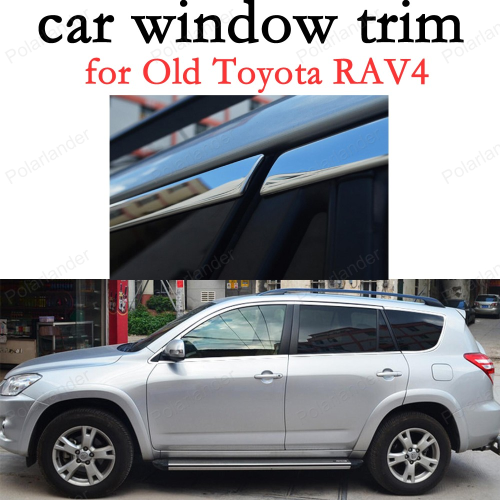 Car Window Trim Decoration Strips Stainless Steel Car Exterior Accessories for Old T oyota RAV4|exterior accessories|window trim|car window trim - title=