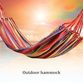 1 PC Portable Outdoor Hammock Canvas Canopy  Travel Beach Camping Swing Bed high quality