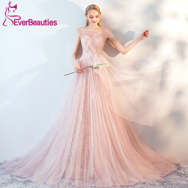 Abendkleider 2019 Elegant Evening Dress Long Tulle Robe De Soiree Formal Dress Women Abiye Gece Elbisesi