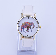 DHL free 10pcs/lot, 2015 New Fashion Casual Brand Leather Strap Wristwatch Simple Style Elephant Quartz Watch for ladies Wome