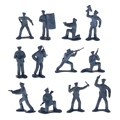 New Arrival 12pc/set Plastic Policeman Figures Simulation Decoration Kids Toys Collectibles Soldiers Military Toys for Children