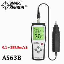 Цифровой измеритель вибрации 10 Гц~ 1 кГц 0,1~ 199,9 м/с, точный умный датчик AS63B, измерительный прибор вибрации, калибровочный анализатор с коробкой для переноски