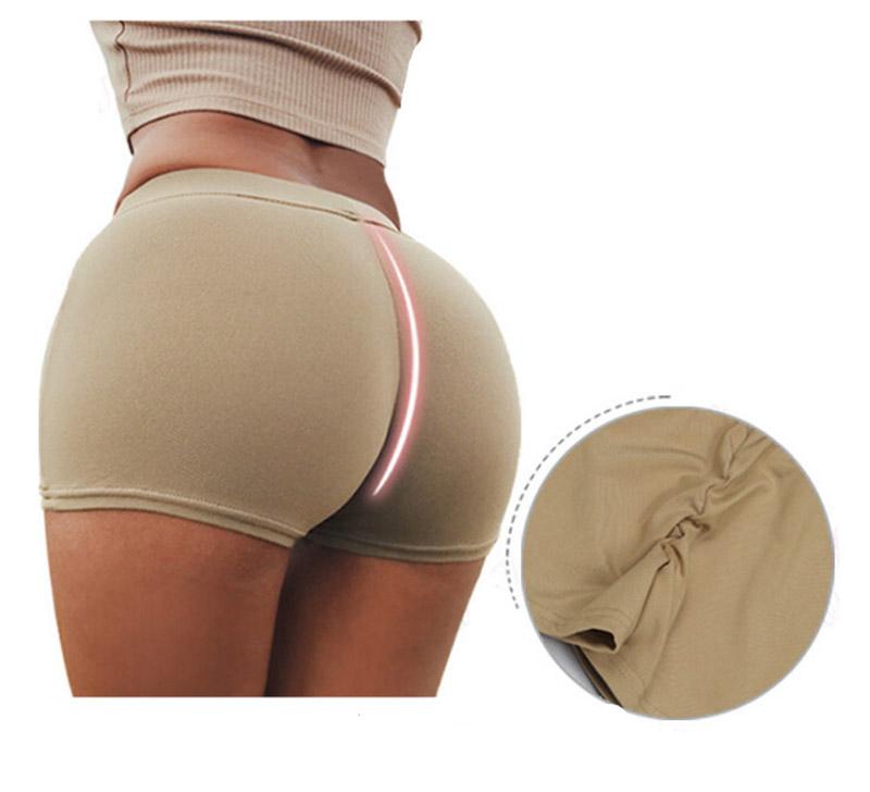 Short de compression pour femme beige