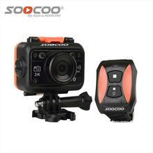 Câmera ação soocoo s70 2 k 1080 p 60 m à prova d' água mini vídeo build-in wi-fi com relógio remoto controle esporte dv câmera esporte