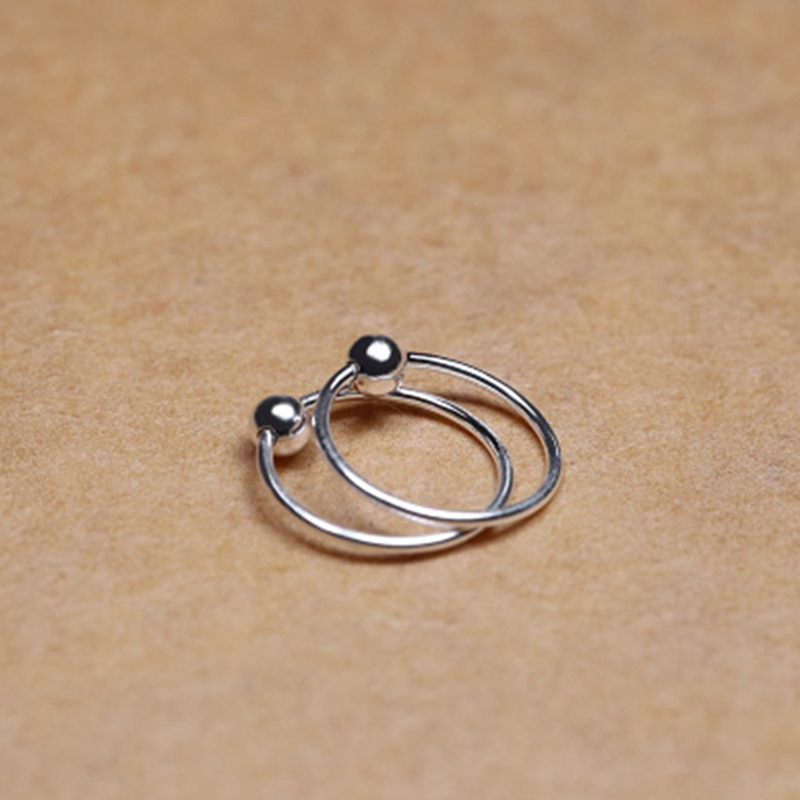 1pair Surgical Steel Hoop Nose Ring Ball Closure Lip Ear Eyebrow Universal Piercing Cartilage Earring 4 Size In Stud Earrings From Jewelry
