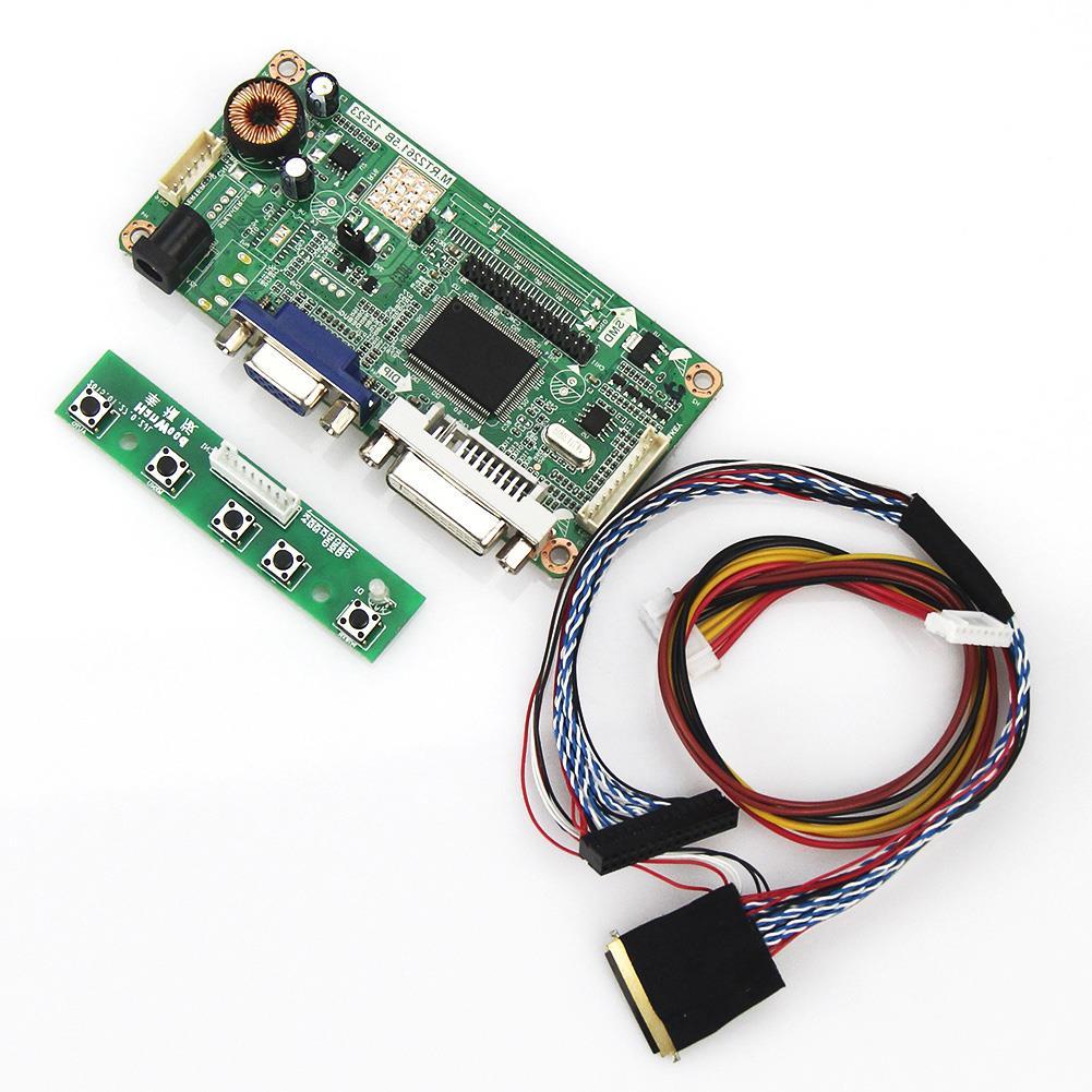 (VGA+DVI) M.RT2261 M.RT2281 LCD/LED Controller Driver Board For B173RW01 V0 LVDS Monitor Reuse Laptop 1600x900