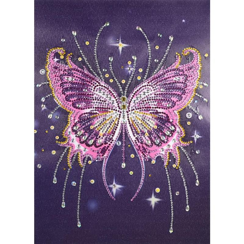 5D DIY Special Shaped Diamond Painting Butterfly Diamond Cross Stitch Embroidery Rhinestones Mosaic Kits Home Wall Decor