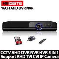 Home Surveillance 16ch DVR HD AHD 1080P 1080N 720P Security CCTV DVR Recorder HDMI 1080P 16