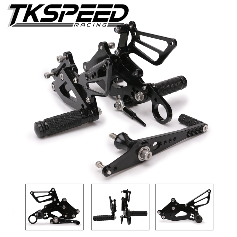 For BMW S1000RR S 1000 RR 2015 2016 2017 Adjustable Rcing Rider Rear Sets Shift Rearset Footrest Foot Rest Pegs cnc racing rearset adjustable rear sets foot pegs fit for bmw s1000rr s1000 rr hp4 2015 2016 silver
