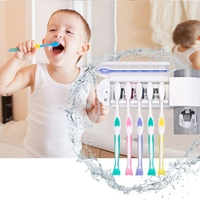2 в 1 ультрафиолетового Зубная щётка стерилизатор зубная щетка, дозатор держатель Ванная комната автоматический комплект для зубной пасты д...