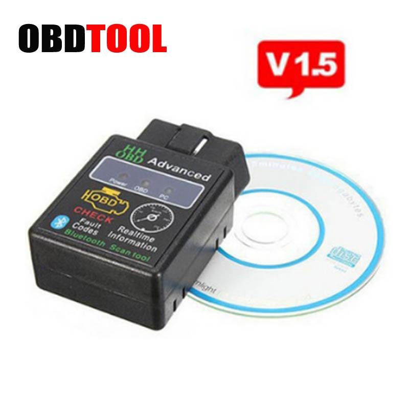 ELM327 Bluetooth V1.5 HH OBD Better Than V2.1 Support SAE J1850 PWM Protocol Obd2 Code Reader Work on Android Windows JC10