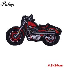 Pulaqi Motercycle Biker Embroidered Sticker Iron Sewing On Patches For Jeans Clothing Vest Embroidery Decor Hat DIY D(China)