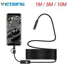 VicTsing 1m 3 в 1 Android Тип-C USB эндоскоп Камера Wi-Fi бороскоп 6 СВЕТОДИОДНЫЙ Змея Камера для Mac OS Windows Инструменты для ремонта автомобиля