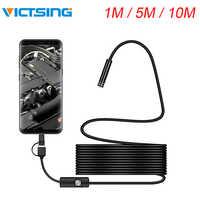VicTsing 1m 3-in-1 Android Type-C USB Endoscope Camera Wifi Borescope 6 LED Snake Camera For Mac OS Windows Car Repair Tools