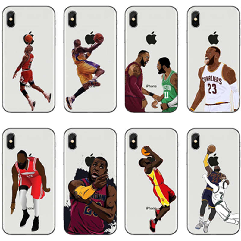 Jordan Curry James Kevin Durant Kobe Basketball Case for iphone 6 7 6s 8 plus 5s 5 se X XS XR Silicon TPU Fundas  Coque emblem